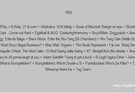 1993 hiphop